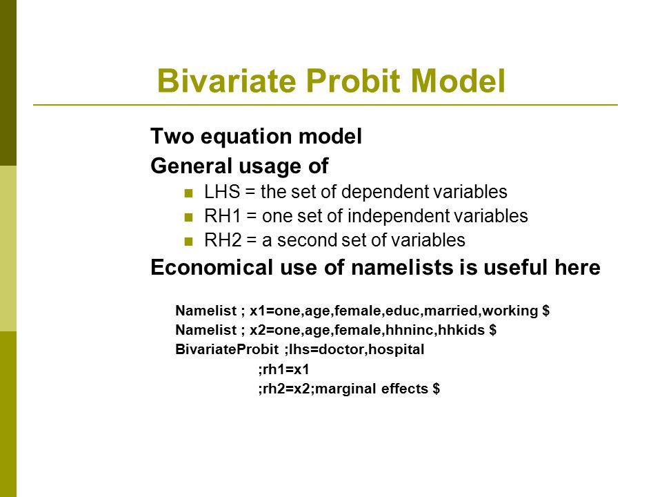 Bivariate Probit Model