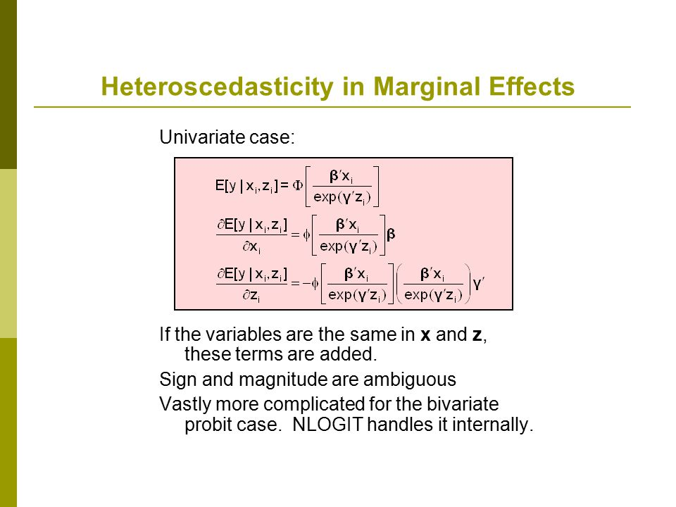 Heteroscedasticity in Marginal Effects