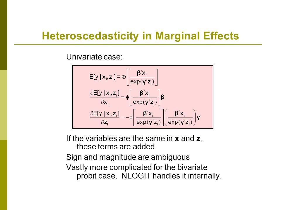 Heteroscedasticity in Marginal Effects