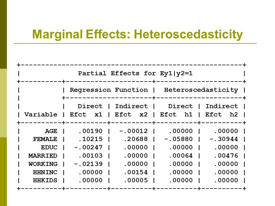 Marginal Effects: Heteroscedasticity