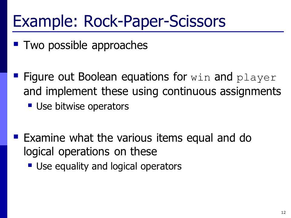 Example: Rock-Paper-Scissors