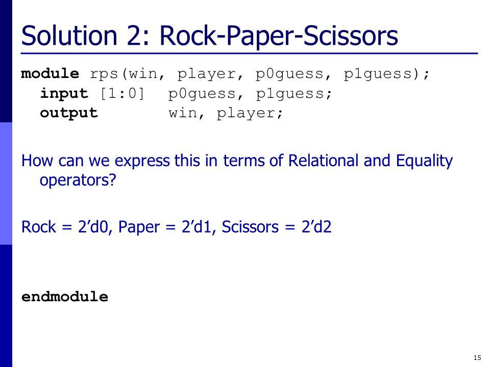 Solution 2: Rock-Paper-Scissors