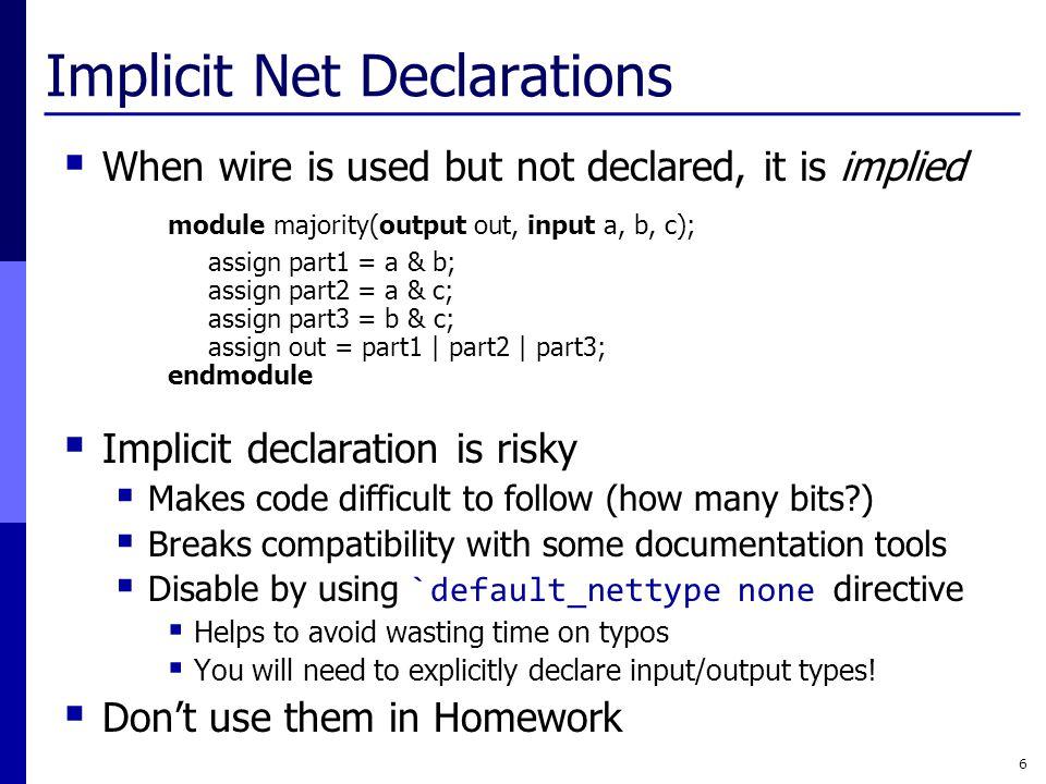 Implicit Net Declarations