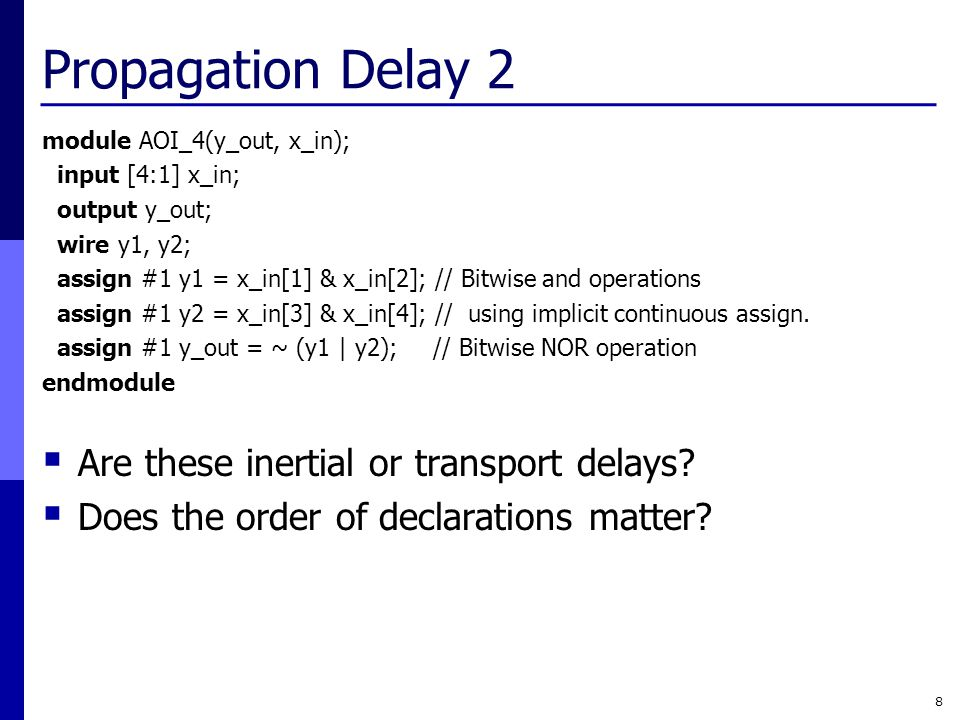 Propagation Delay 2 Are these inertial or transport delays
