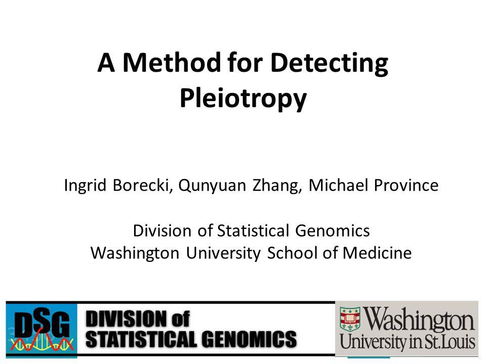 A Method for Detecting Pleiotropy