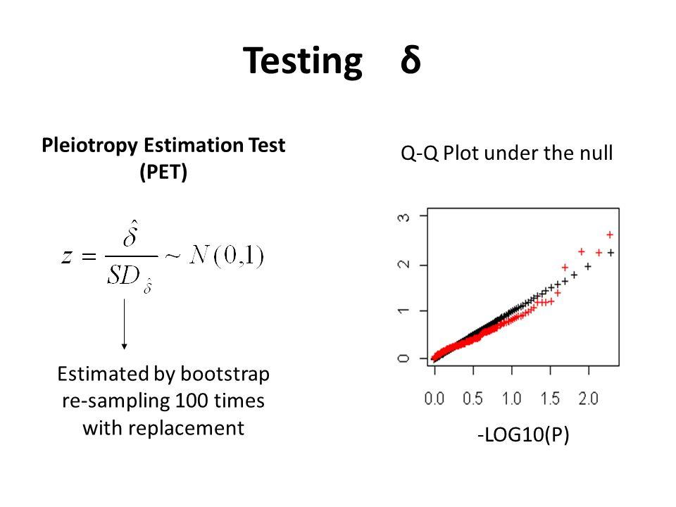 Pleiotropy Estimation Test (PET)