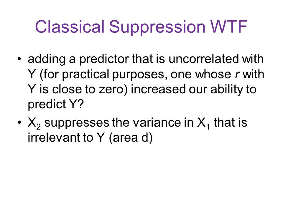 Classical Suppression WTF