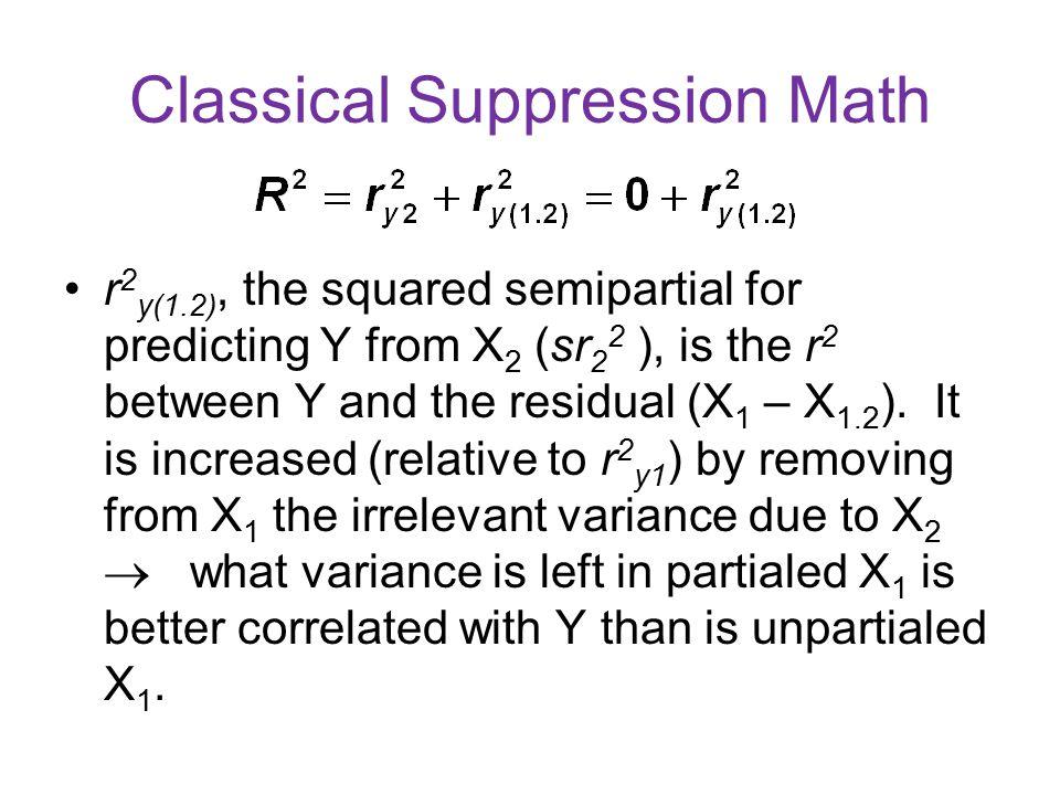 Classical Suppression Math