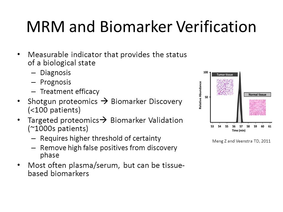 MRM and Biomarker Verification