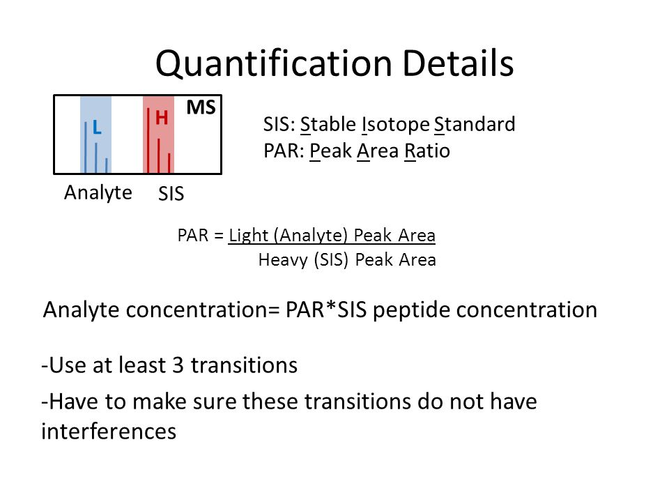 Quantification Details