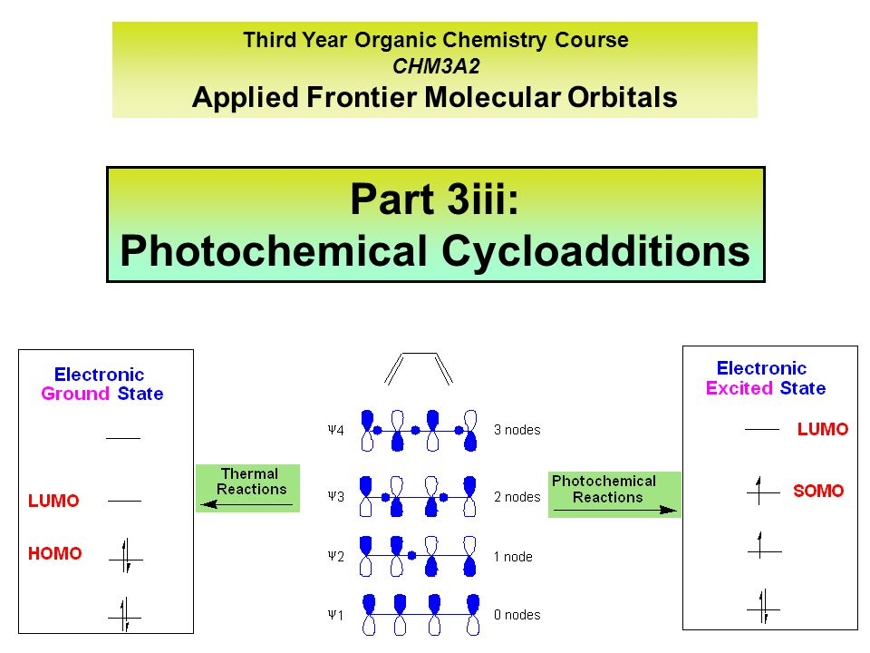Part 3iii: Photochemical Cycloadditions