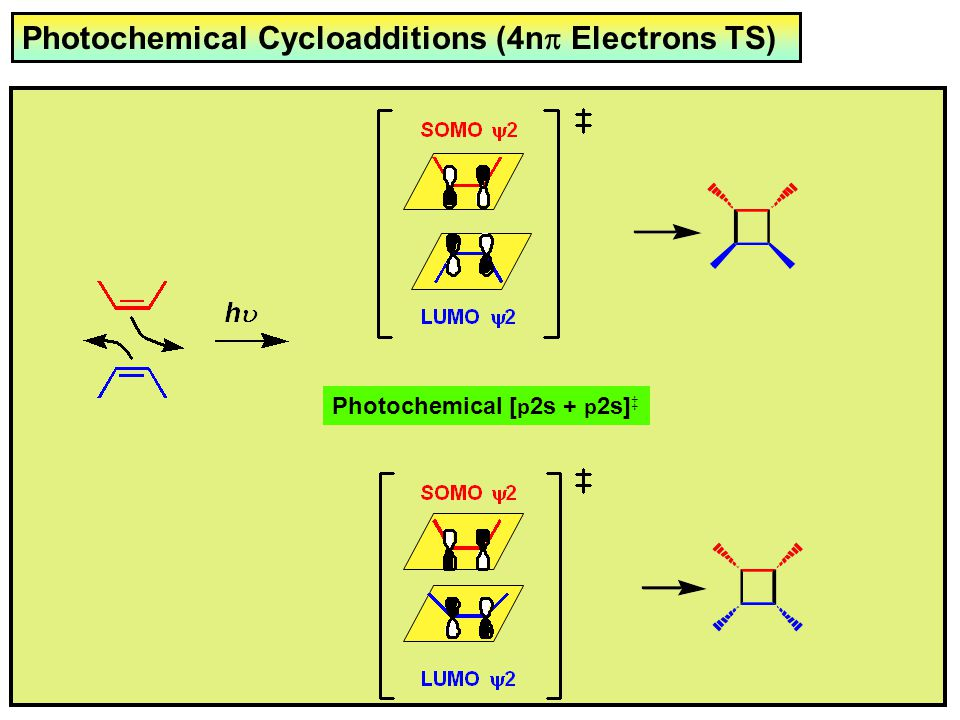 Photochemical Cycloadditions (4np Electrons TS)
