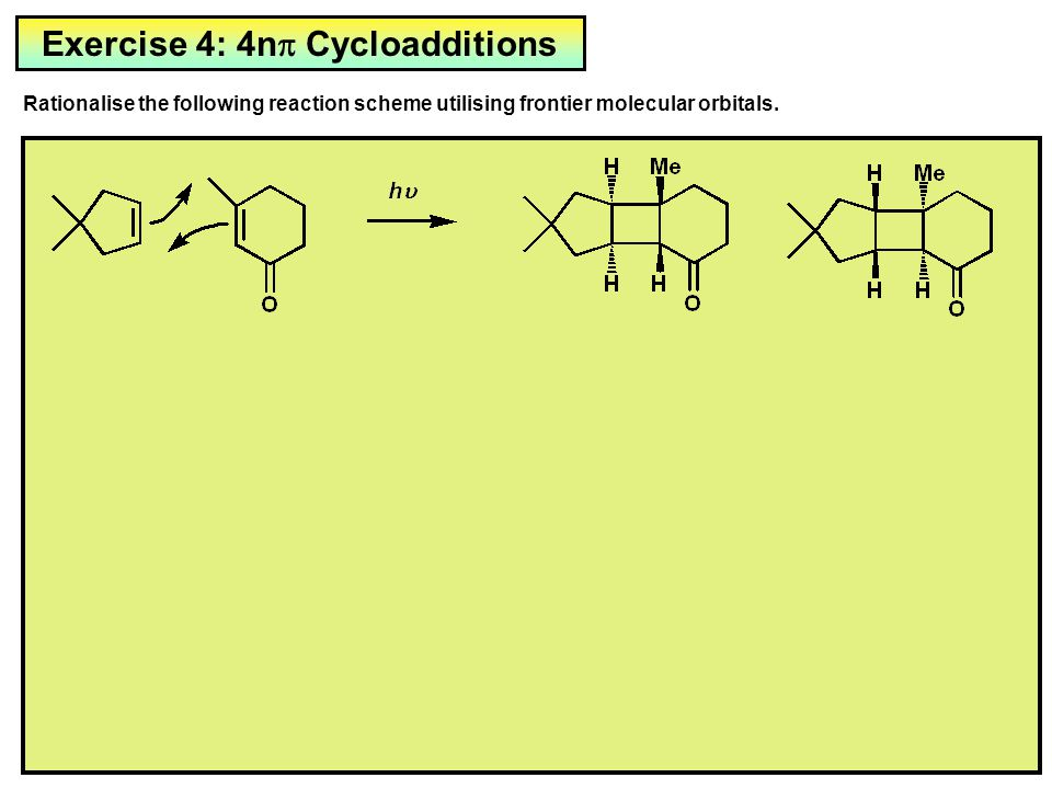 Exercise 4: 4np Cycloadditions