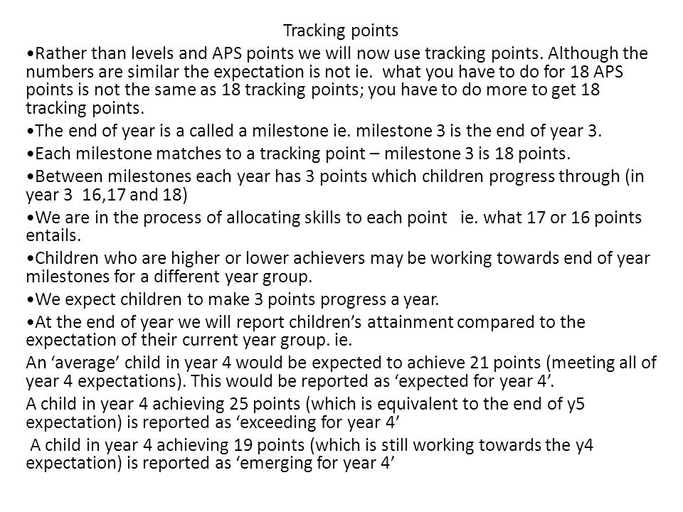 Tracking points