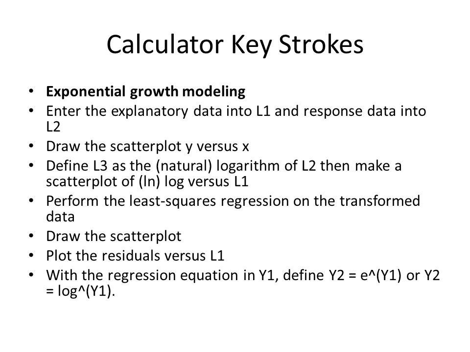 Calculator Key Strokes
