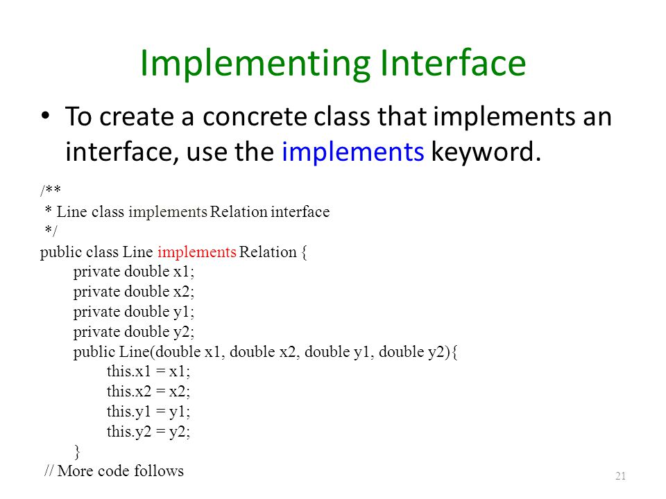 Implementing Interface