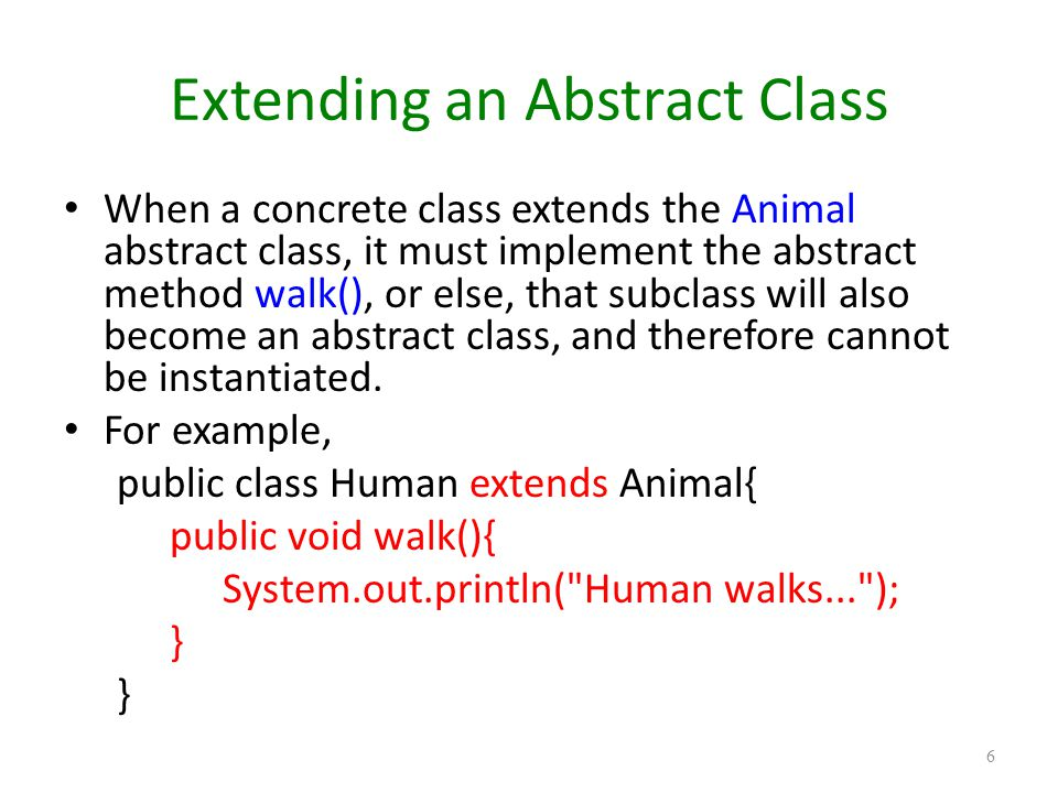 how to use abstract class in java with example