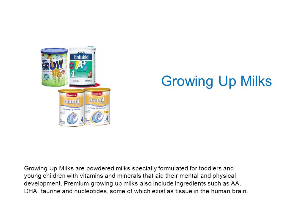 Growing Up Milks