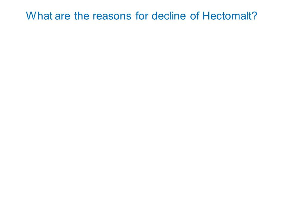 What are the reasons for decline of Hectomalt