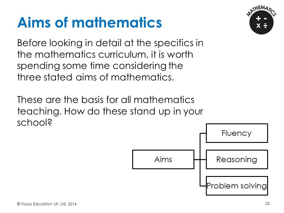 Aims of mathematics