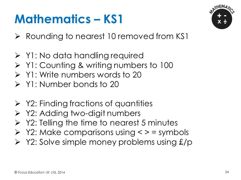 Mathematics – KS1 Rounding to nearest 10 removed from KS1
