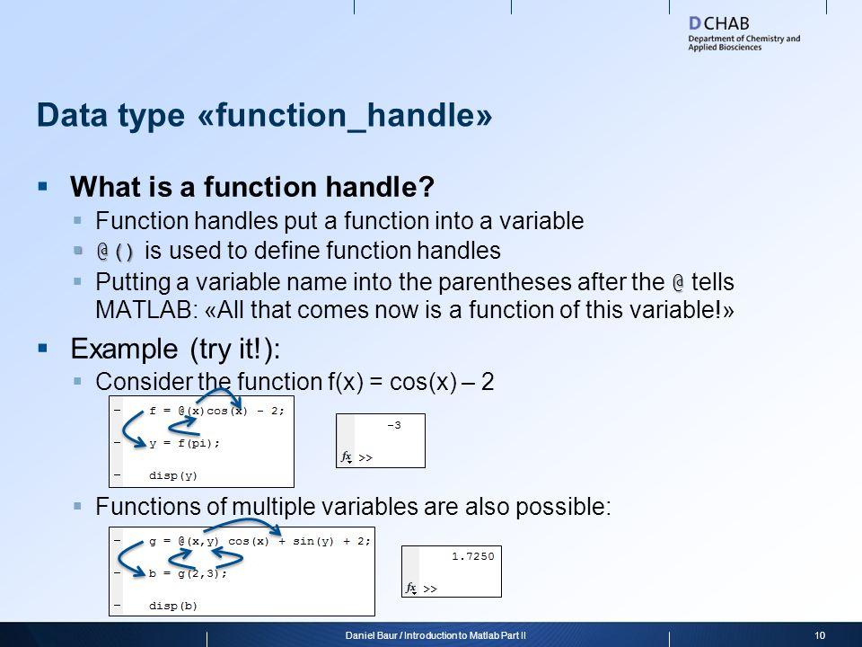 Data type «function_handle»