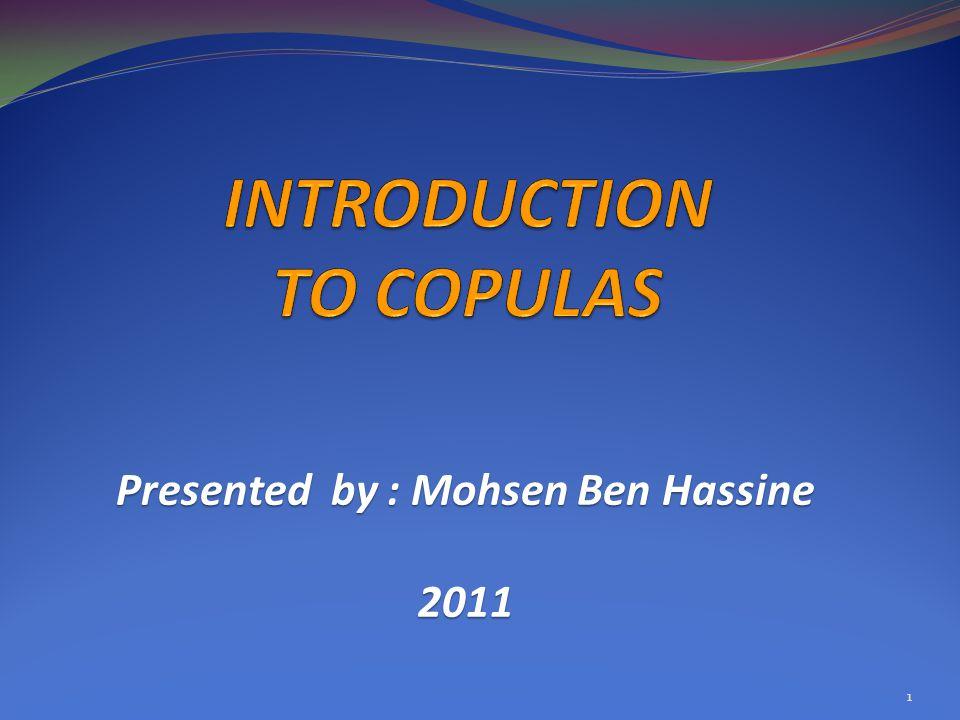 INTRODUCTION TO COPULAS