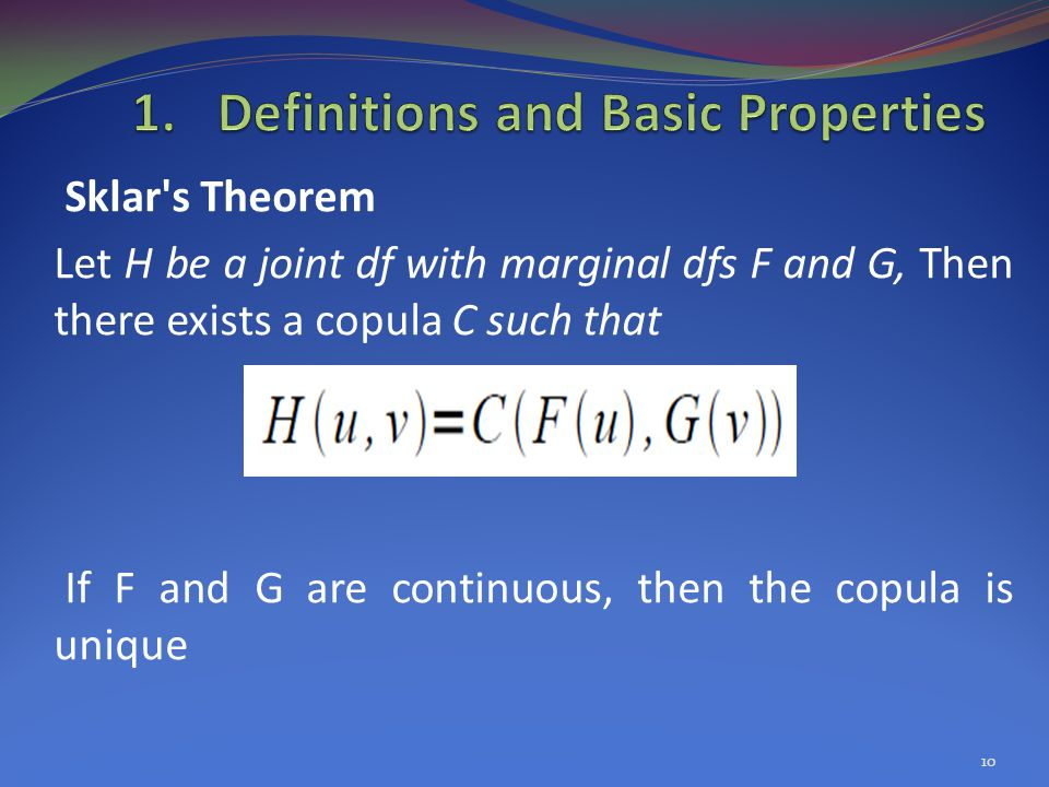 Definitions and Basic Properties