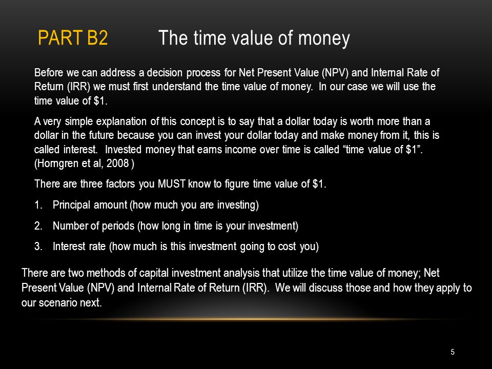Part b2 The time value of money