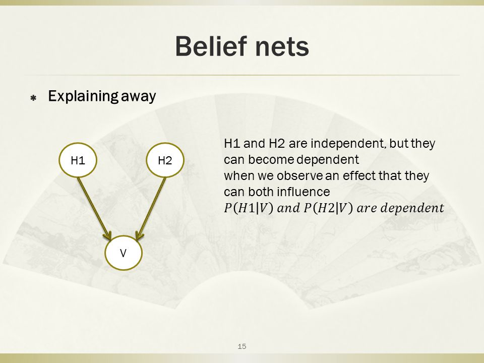 Belief nets Explaining away