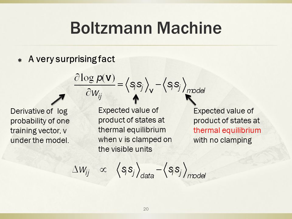 Boltzmann Machine A very surprising fact