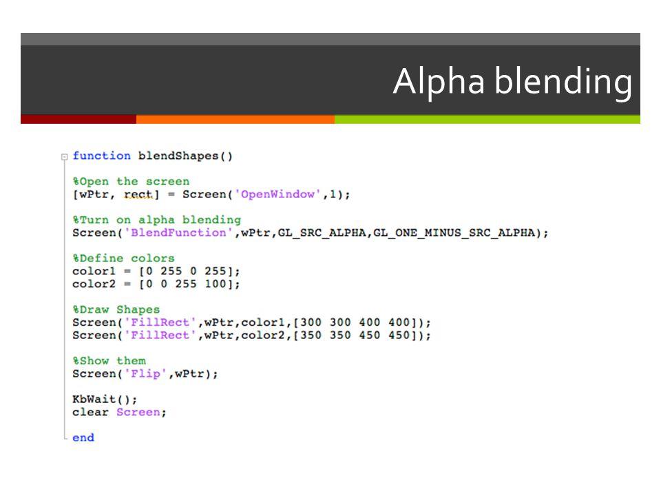 Alpha blending