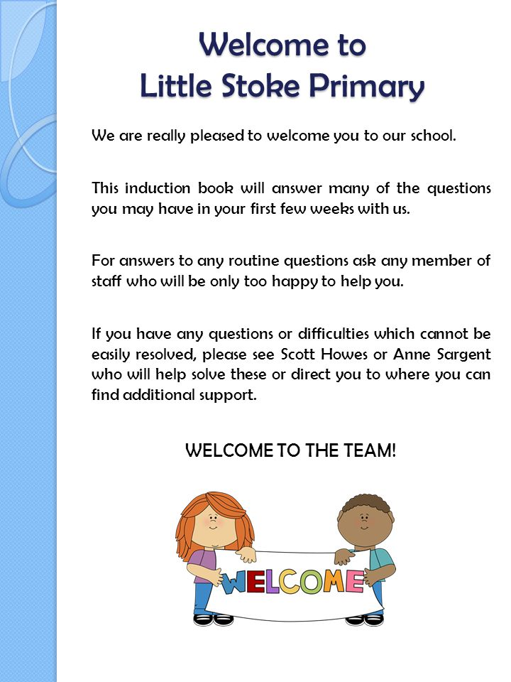 Welcome to Little Stoke Primary