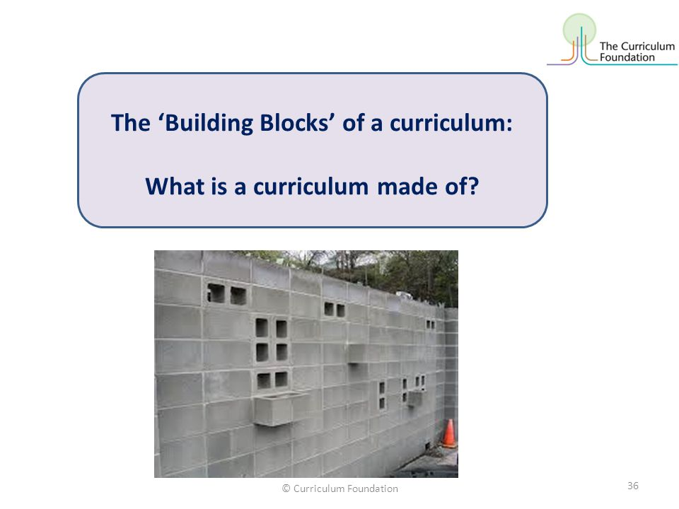 The 'Building Blocks' of a curriculum: What is a curriculum made of