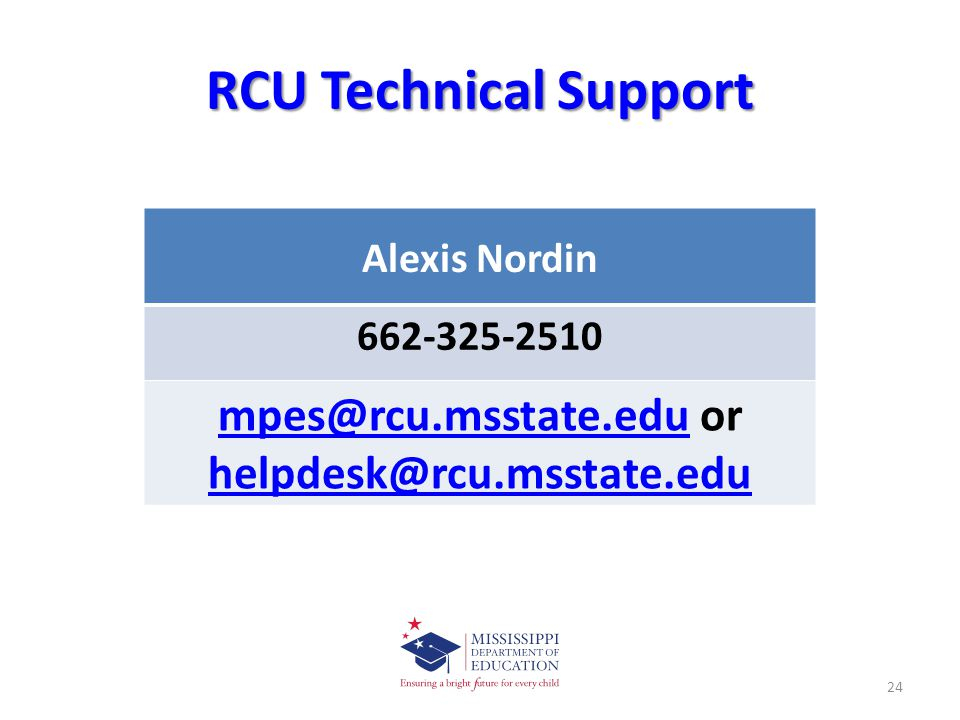 mpes@rcu.msstate.edu or helpdesk@rcu.msstate.edu