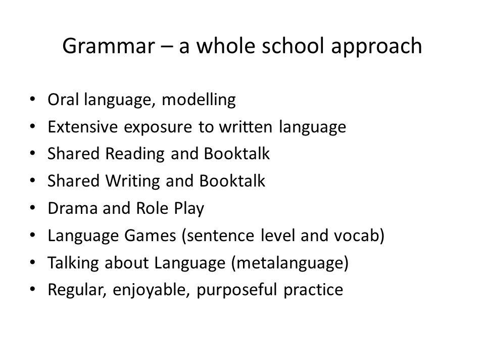 Grammar – a whole school approach