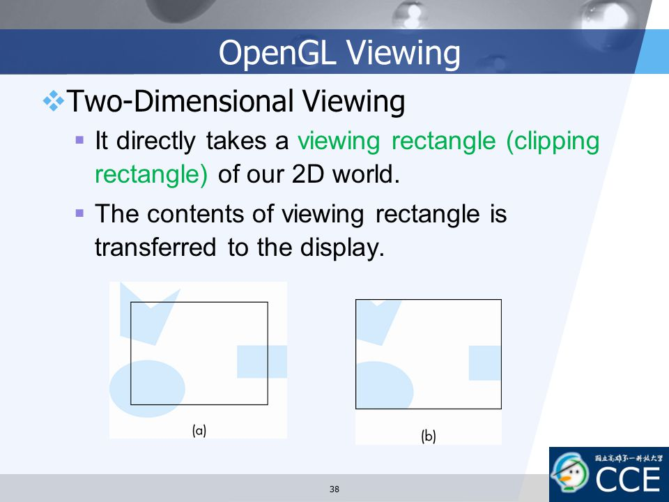 OpenGL Viewing Two-Dimensional Viewing