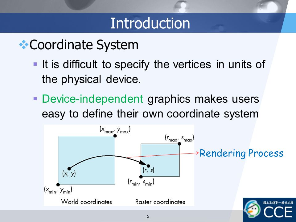 Introduction Coordinate System