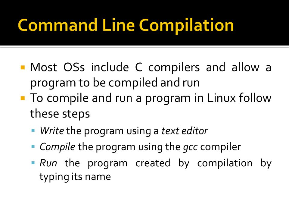 Command Line Compilation
