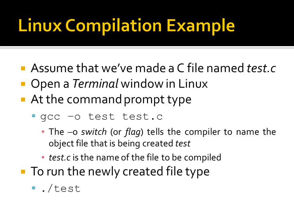 Linux Compilation Example