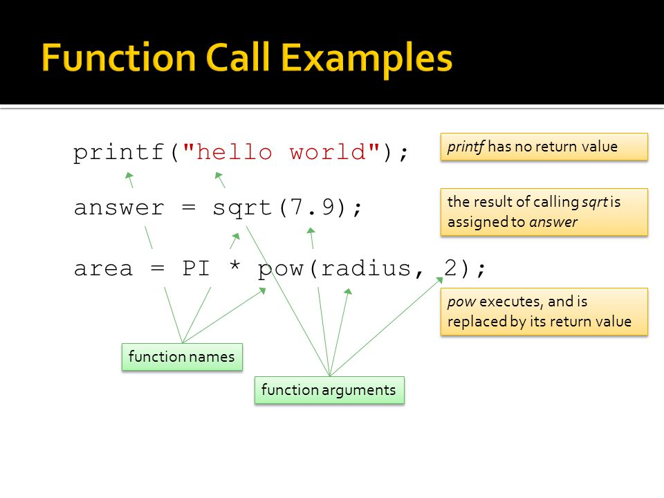 Function Call Examples