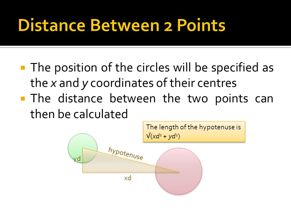 Distance Between 2 Points