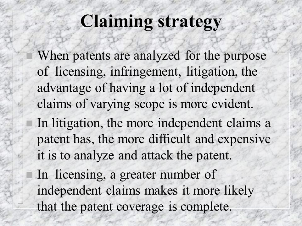 Claiming strategy