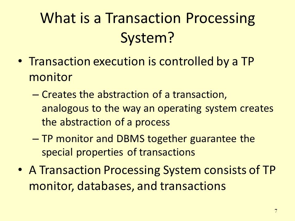 What is a Transaction Processing System