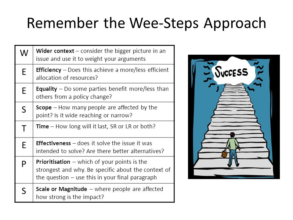 Remember the Wee-Steps Approach