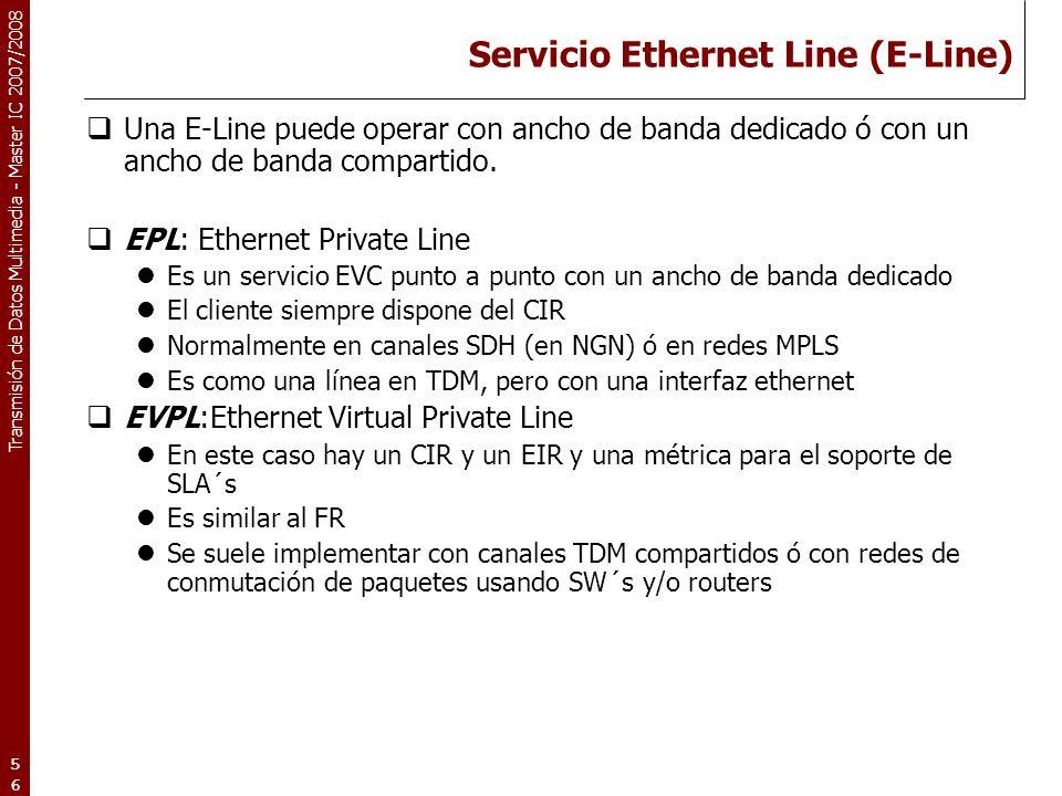 Servicio Ethernet Line (E-Line)