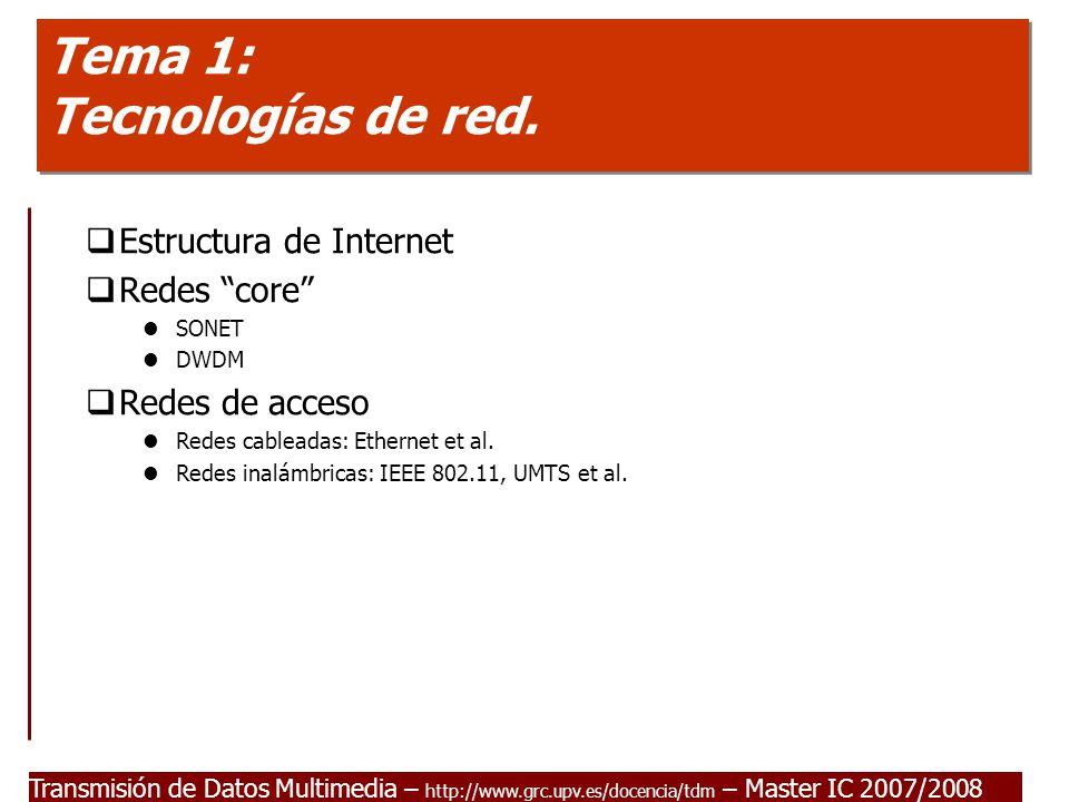 Tema 1: Tecnologías de red.