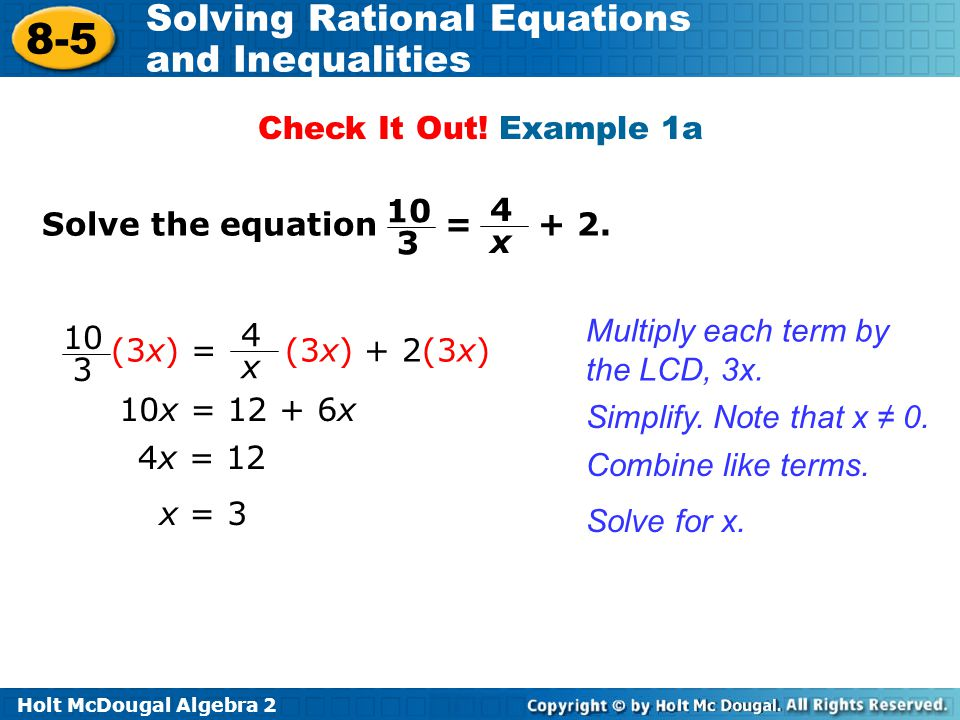 solving rational equations and inequalities ppt download. Black Bedroom Furniture Sets. Home Design Ideas