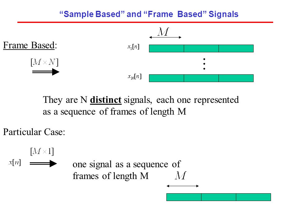 Sample Based and Frame Based Signals
