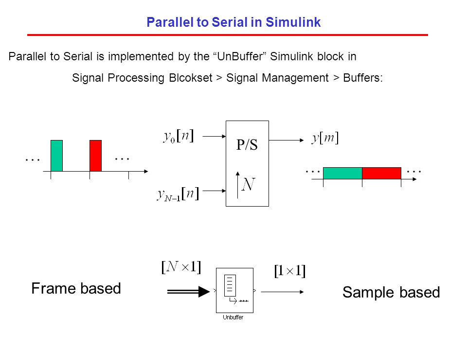 Parallel to Serial in Simulink